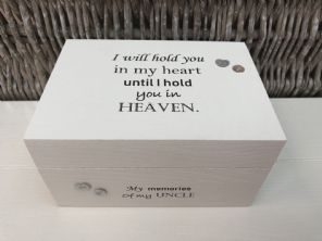 Personalised In Memory Of A Loved One ~ Box ~ UNCLE ~ any Name Bereavement Loss - 253568253339